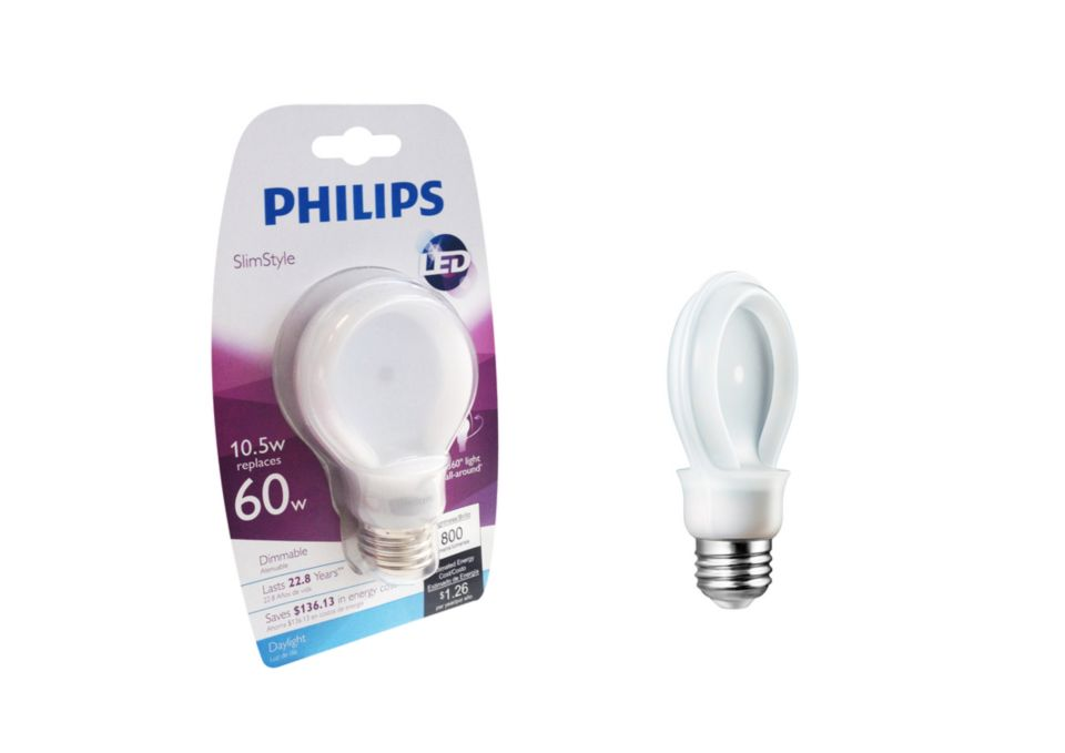 Philips SlimStyle A19 CFL