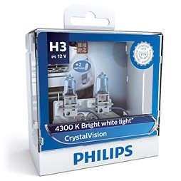 CrystalVision 银战士4,300K亮白光 时尚升级型车灯