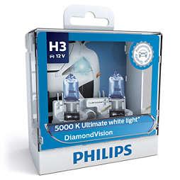 DiamondVision 蓝钻之光5,000k优质白光 白光时尚型升级车灯 H3