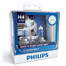 CrystalVision 银战士4,300K亮白光 时尚升级型车灯 H4