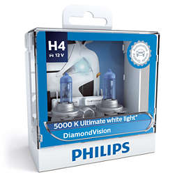 DiamondVision 蓝钻之光5,000k极致白光 白光时尚型升级车灯 H4