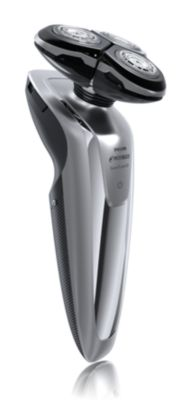 Philips Norelco Shaver 8500 Wet & dry electric shaver, Series 8000 1260X/40 UltraTrack heads GyroFlex 3D contouring system 60 min shaving, 1 hour charge with Precision trimmer
