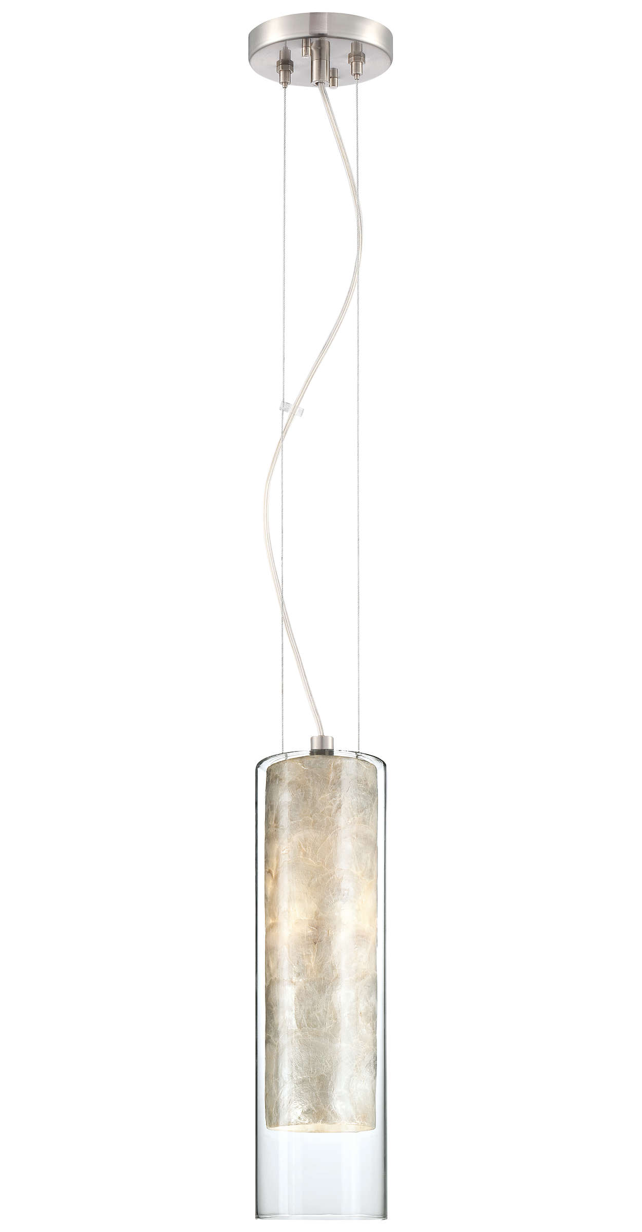 Element 1-light Pendant in Satin Nickel finish