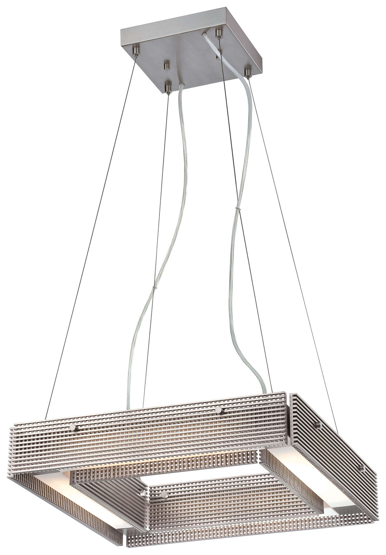 Axo 4-light Pendant in Satin Nickel finish