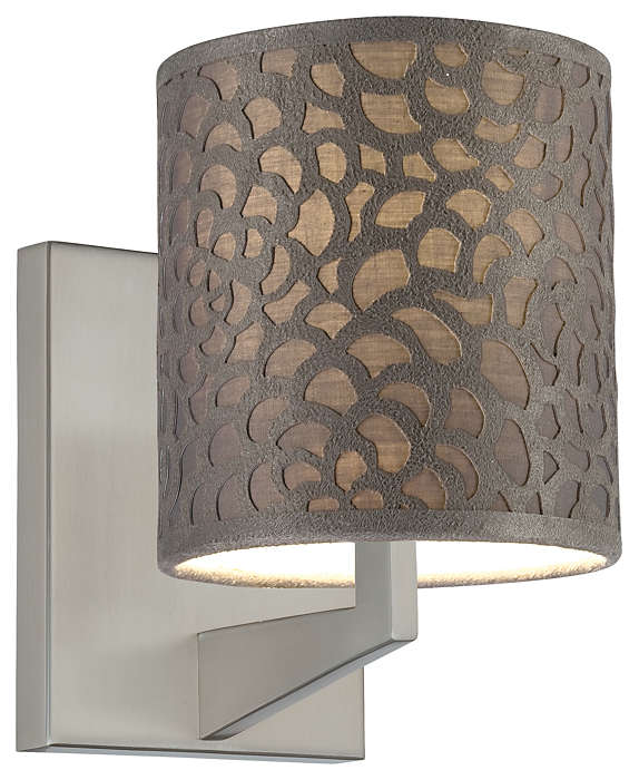Noe accessory shade in Grey Fabric finish