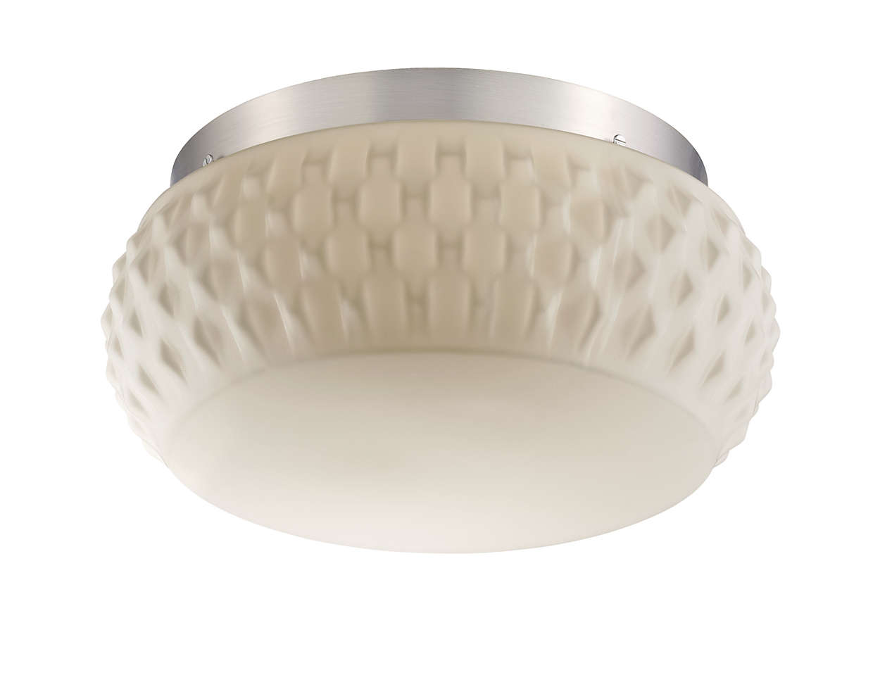 Ripple 2-light Ceiling in Satin Nickel finish