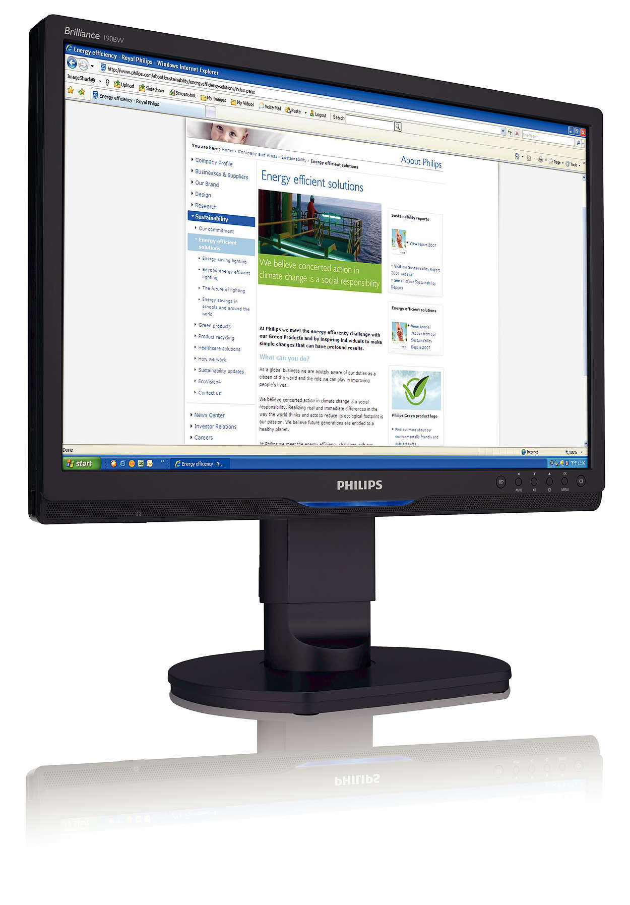 High resolution ergonomic widescreen for business