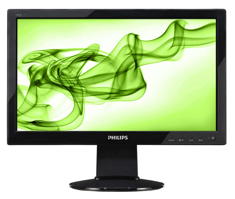 Native 16:9 HD monitor with glossy design