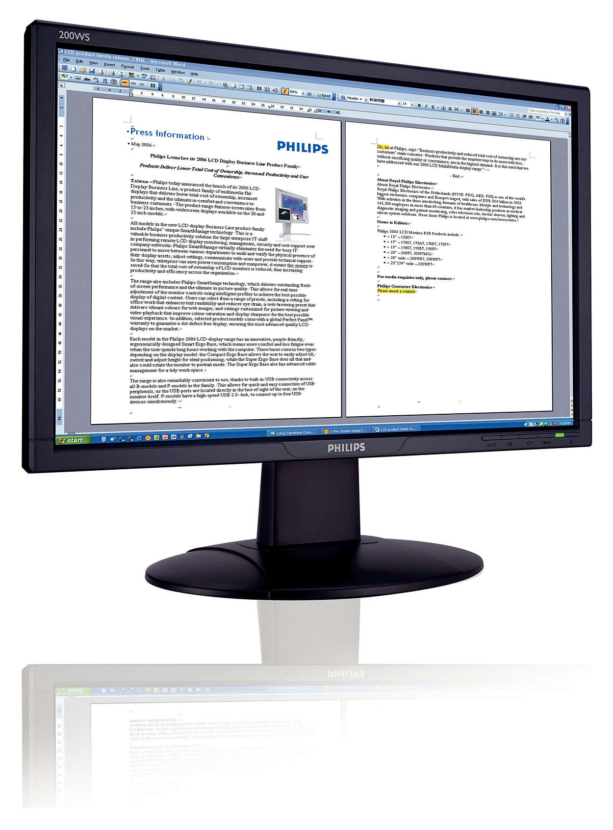 Vista-ready widescreen for business productivity