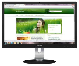 Philips Brilliance LCD monitor, LED backlight P-line 241P4LRYEB/00