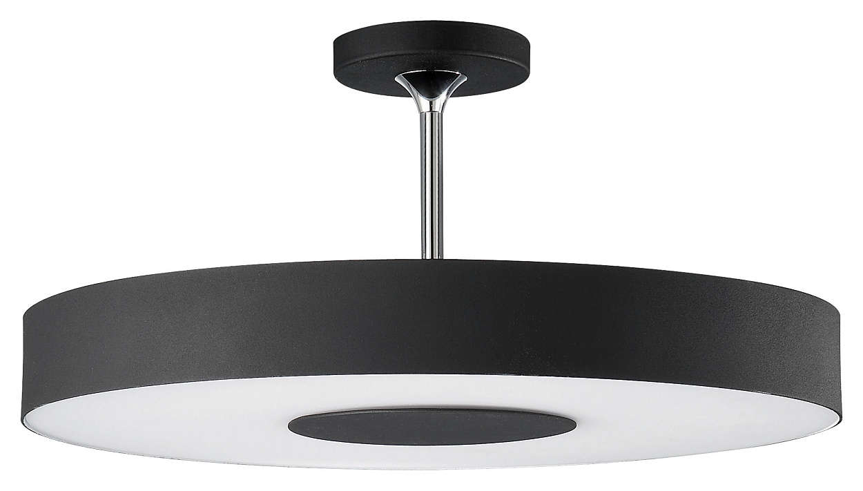 Discus 1-light Ceiling in Black finish