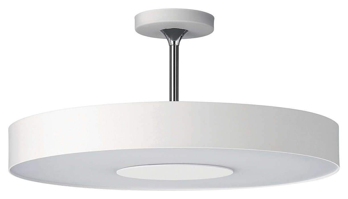 Discus 1-light Ceiling in White finish