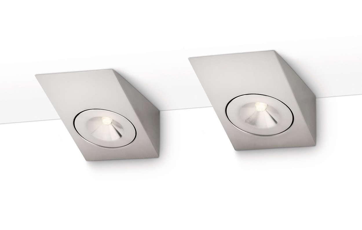 Lampe sous placard 338021716 philips for Comeclairage led pour placard