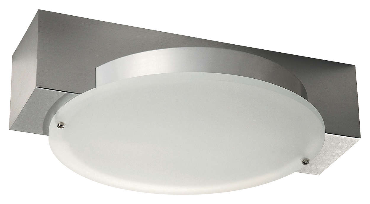 Cercle 2-light Ceiling in Aluminium finish