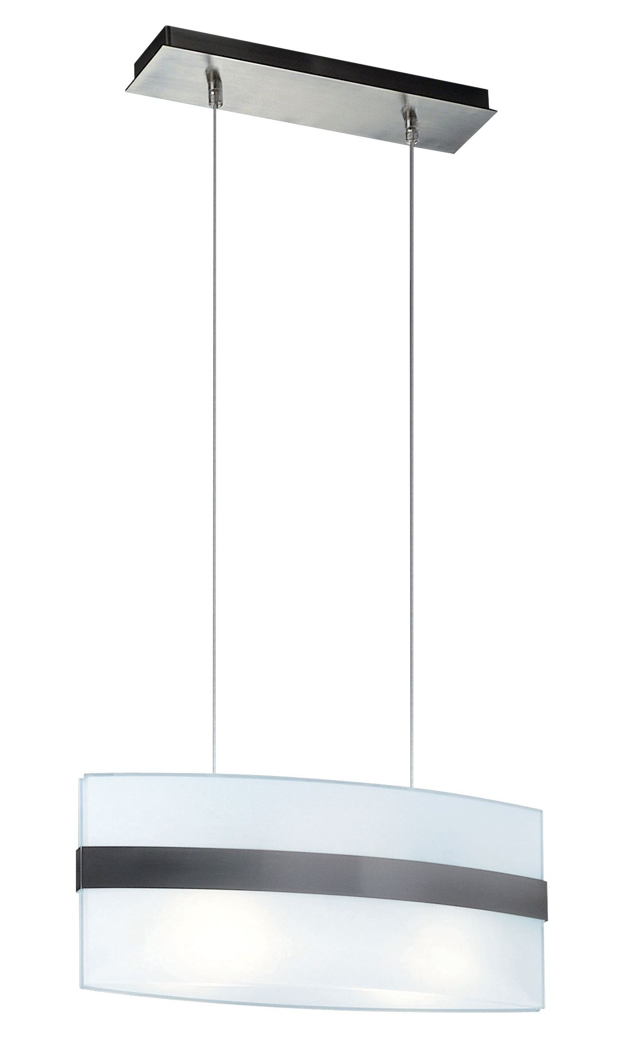 Nienke 2-light Pendant in Matte Chrome finish
