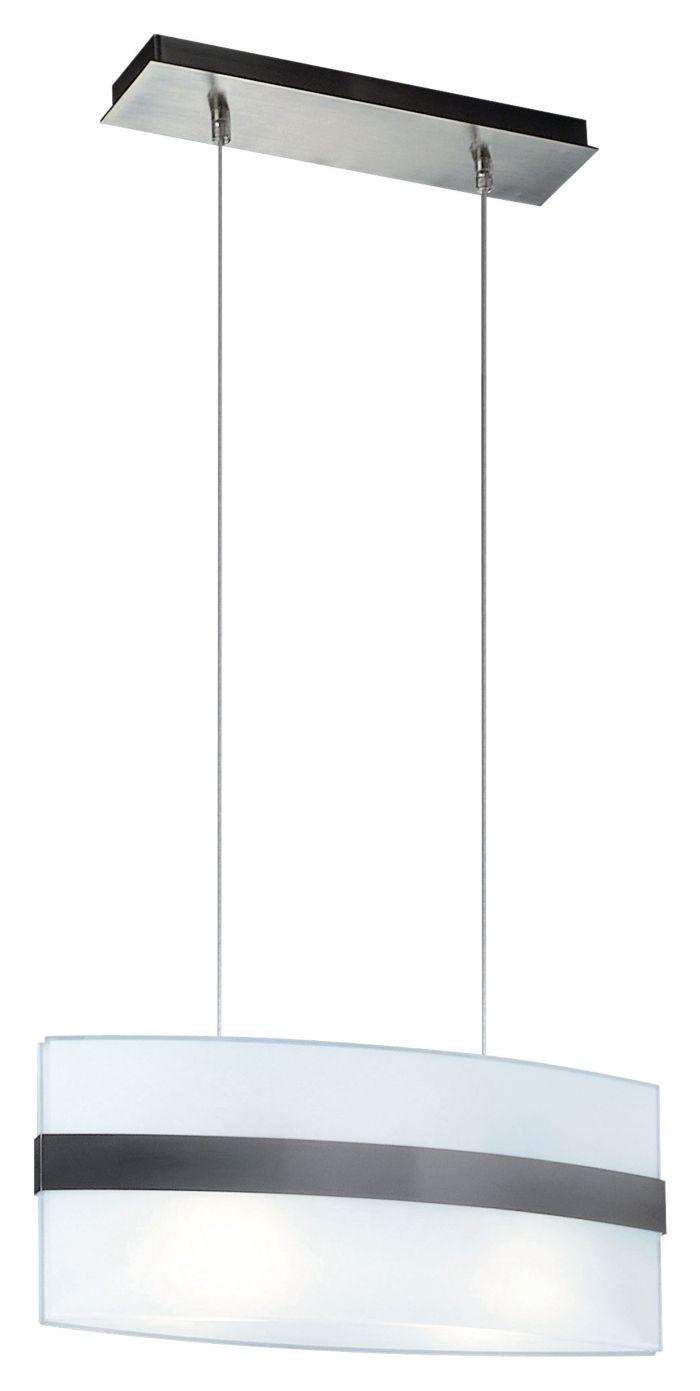 Nienke 2-light Pendant in Matte Chrome finish