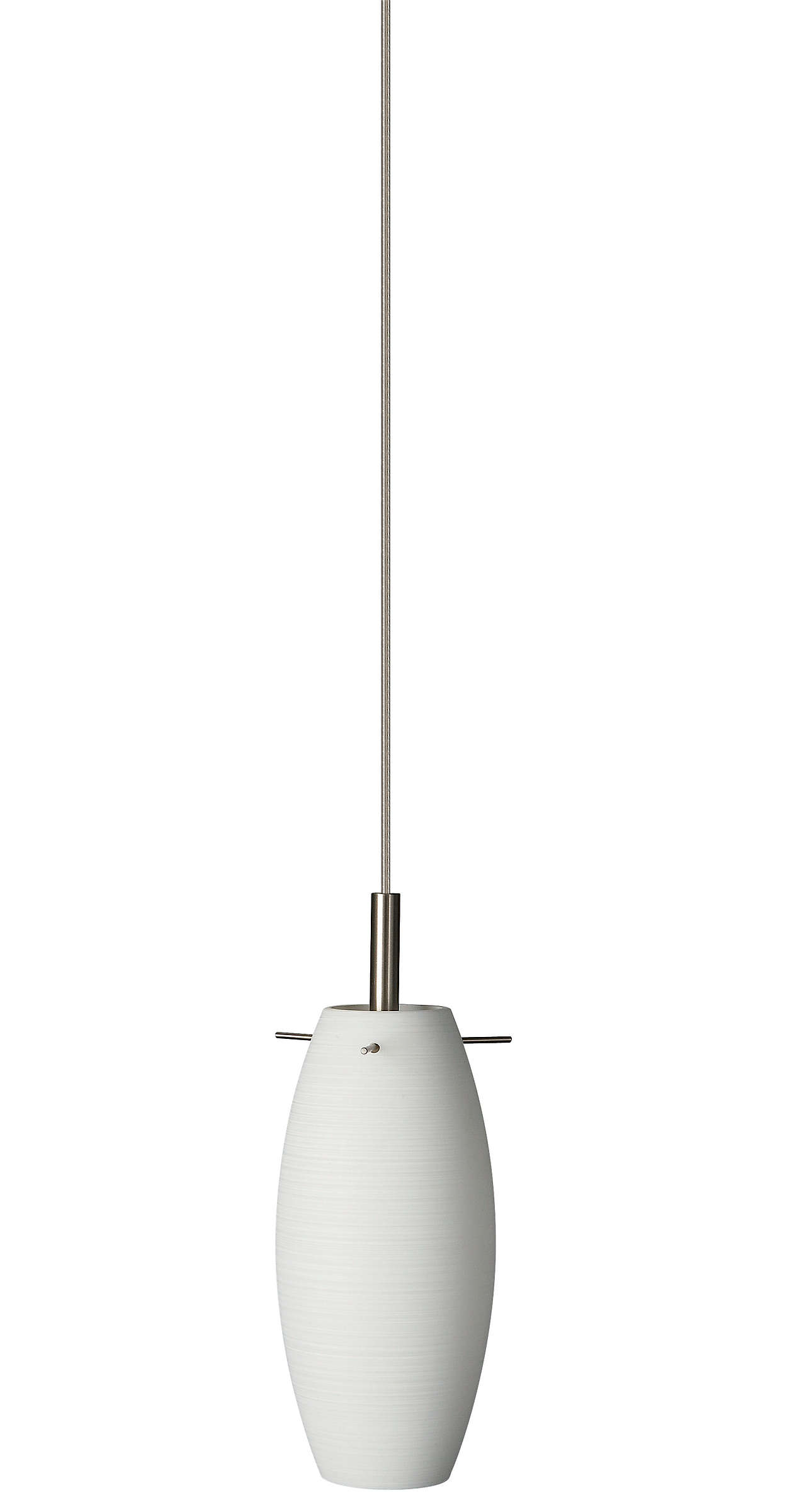 Faro 1-light Pendant in White finish