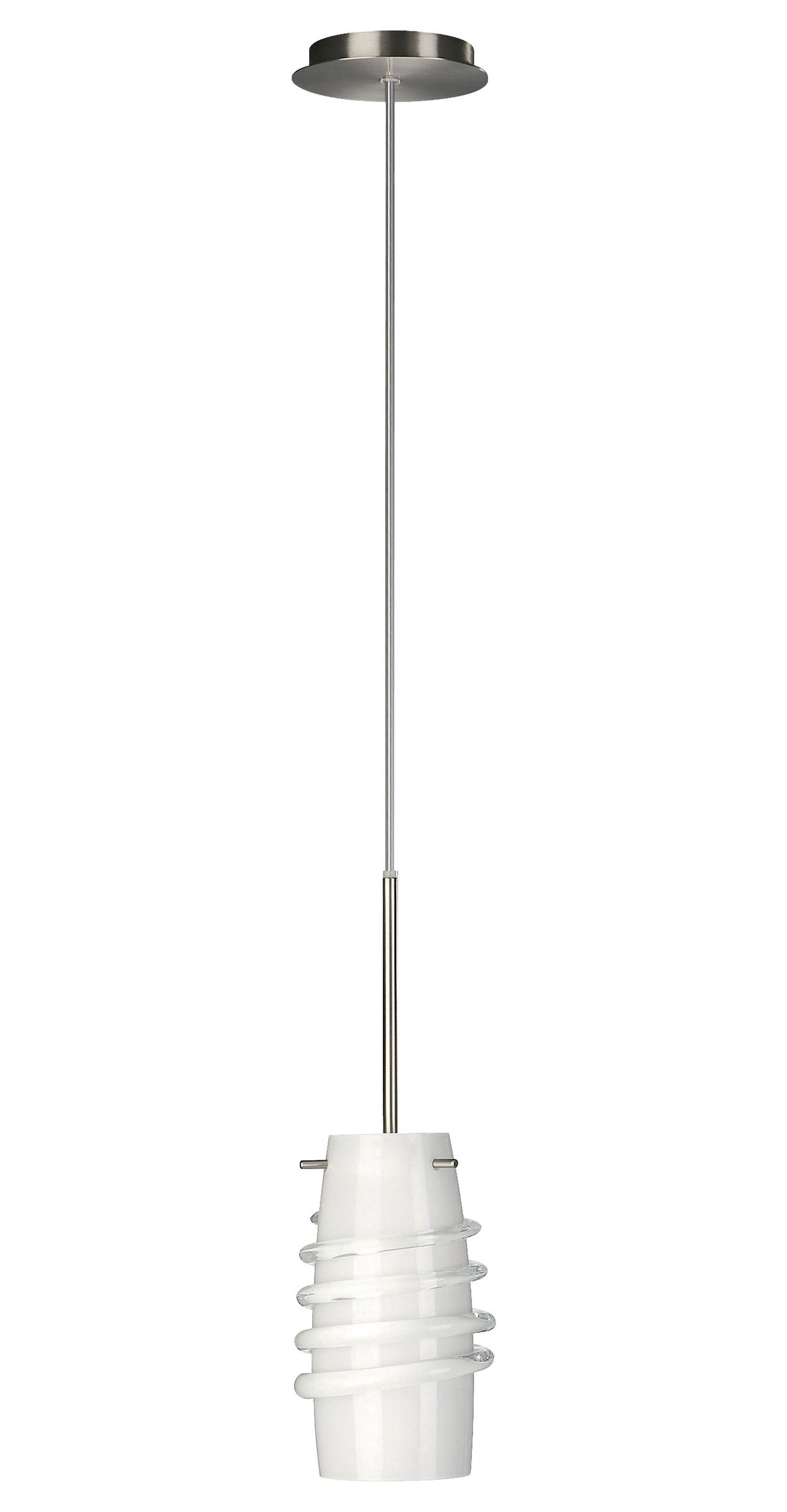 Agrippa 1-light Pendant in Satin Nickel finish