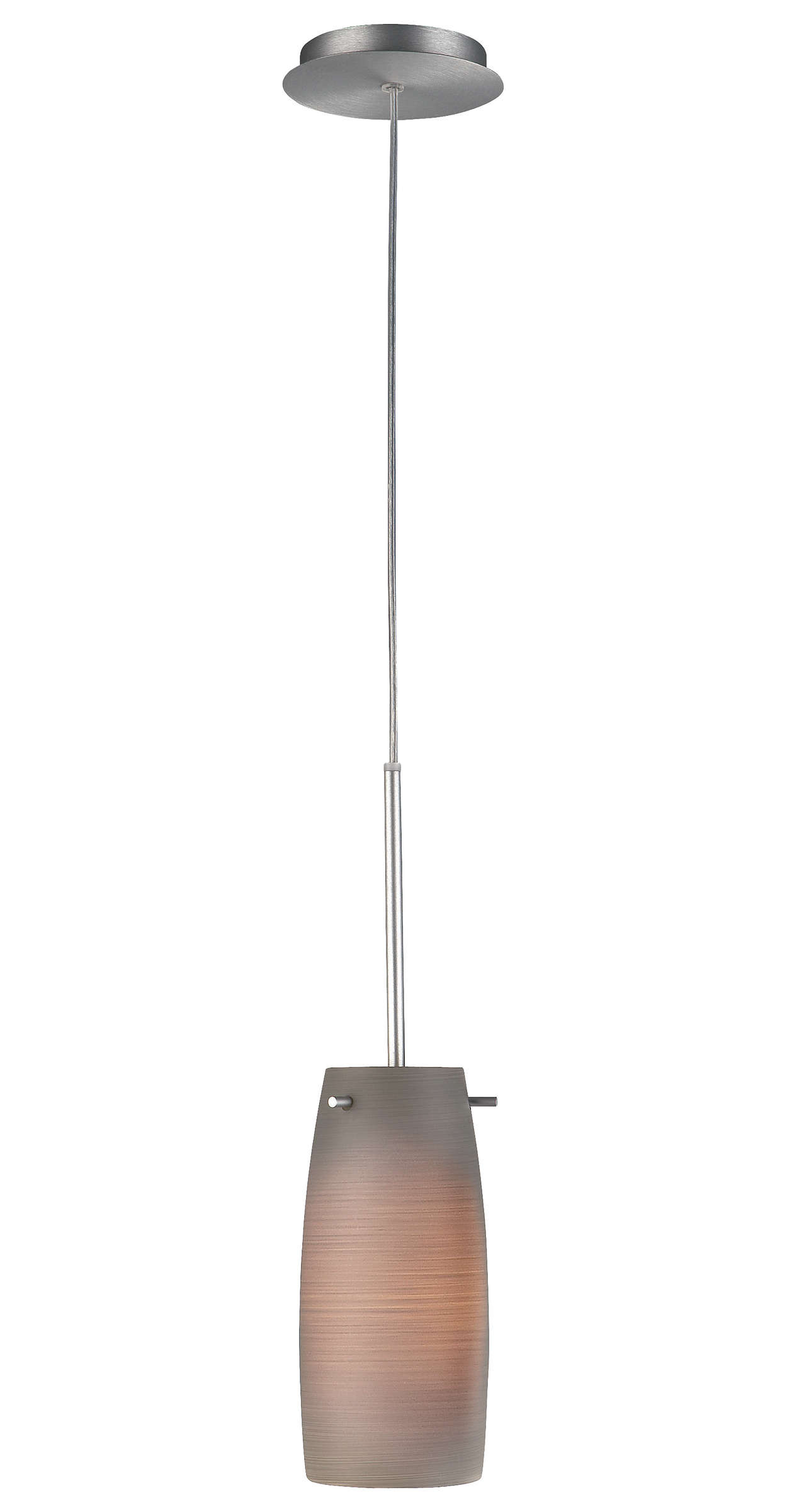 Lavosi 1-light Pendant in Satin Nickel finish