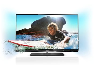Philips 6000 series Smart LED TV 42PFL6097K 107cm (42 inç) Easy 3D DVB T/C/S2 Ambilight Spectra 2 ve Pixel Precise HD ile