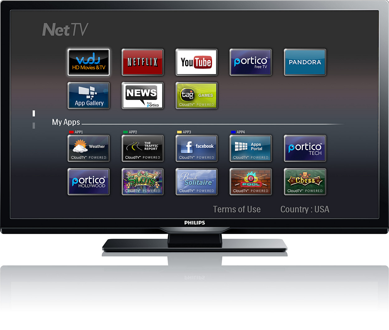 download netflix app philips smart tv