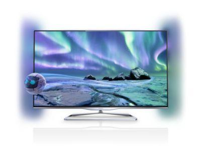 """Philips 5000 series Téléviseur Edge LED SmartTV 3D 47PFL5008H 119cm (47"""") Easy 3D DVB-T/C avec Ambilight 2côtés et PixelPlusHD"""