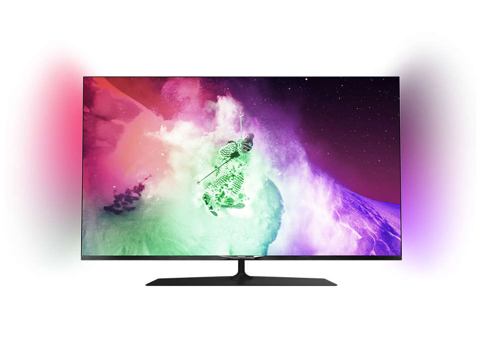 Ultraslank 4K UHD LED-TV drevet av Android