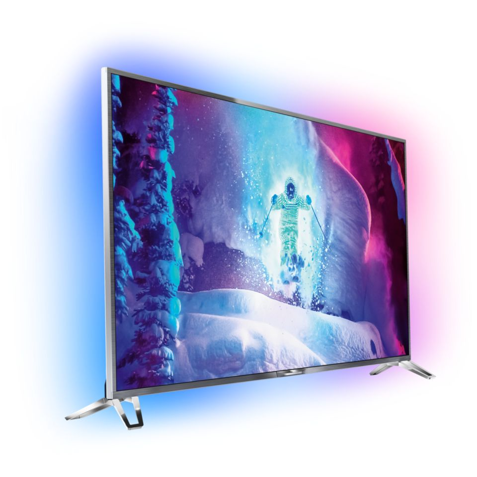 Ultraflacher 4K Ultra HD-LED-TV powered by Android