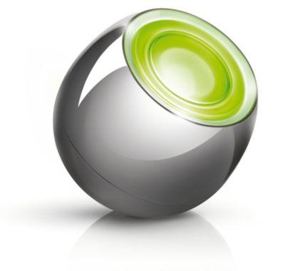 Shiny Chrome Mini LED-lamp