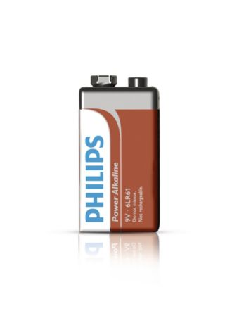 Philips  Battery 9V 6LR61P1B/17