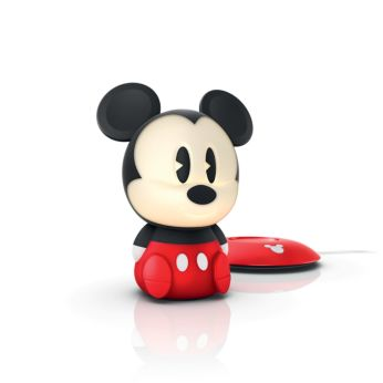Mickey black LED SoftPal Portable light friend