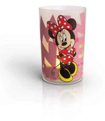 1 set lampada-candela da tavolo LED Minnie bianco
