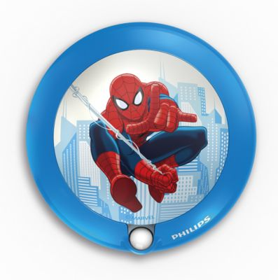 Philips Spider-Man, blå LED-natlampe med sensor 717654016