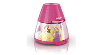 Princess pink LED 2-in-1 Projector and night light