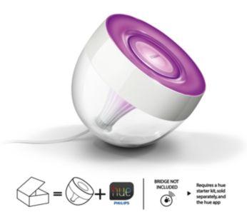 Lámpara de mesa LED Iris en transparente