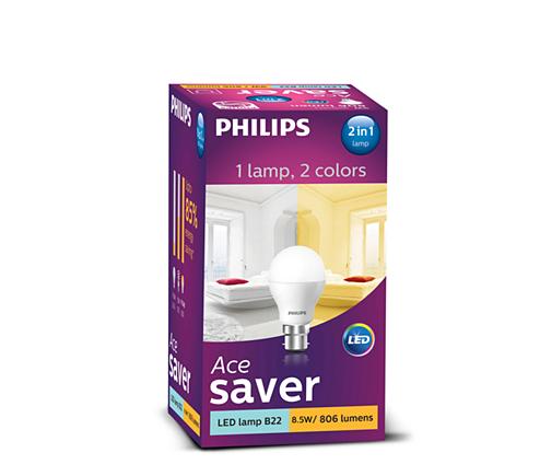 8.5 W (60 W) B22 cap 2in1 color Bulb