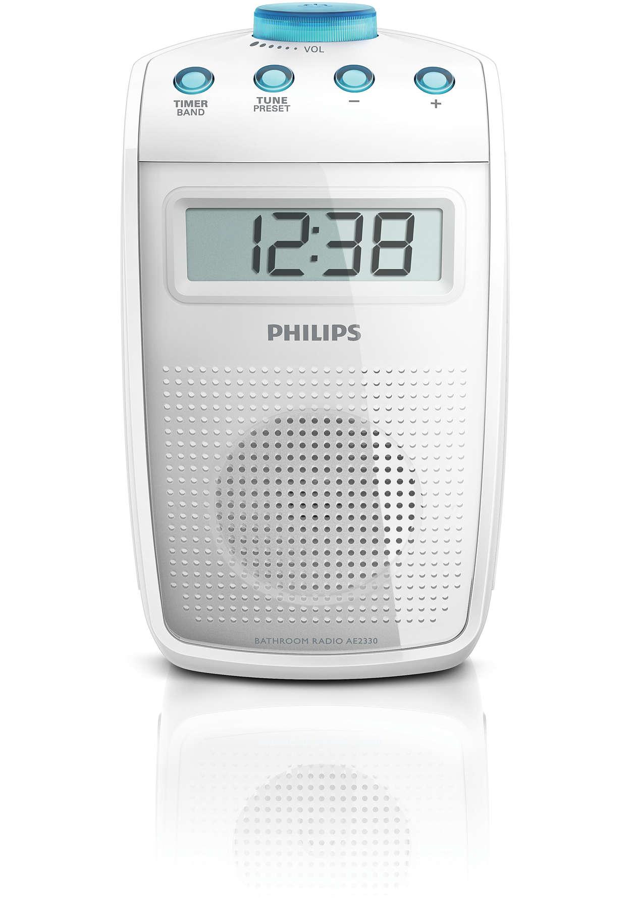 Radio de salle de bains ae2330 00 philips for Radio etanche salle de bain