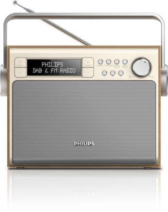 DAB+, sintonizador digital FM, radio portátil