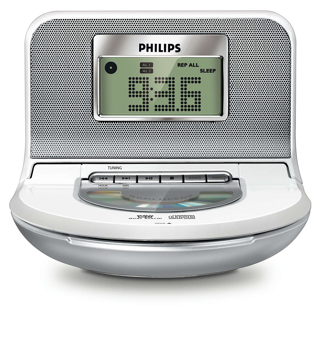 radio r veil avec tuner num rique aj130 12 philips. Black Bedroom Furniture Sets. Home Design Ideas