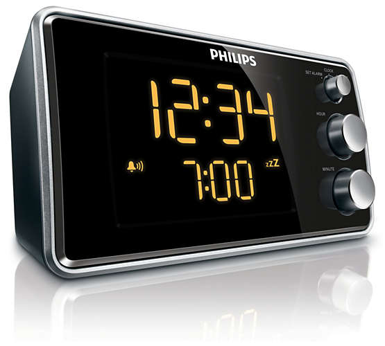 philips aj3551 12 aj3551 radio alarm clock led display fm tuner snooze ebay. Black Bedroom Furniture Sets. Home Design Ideas