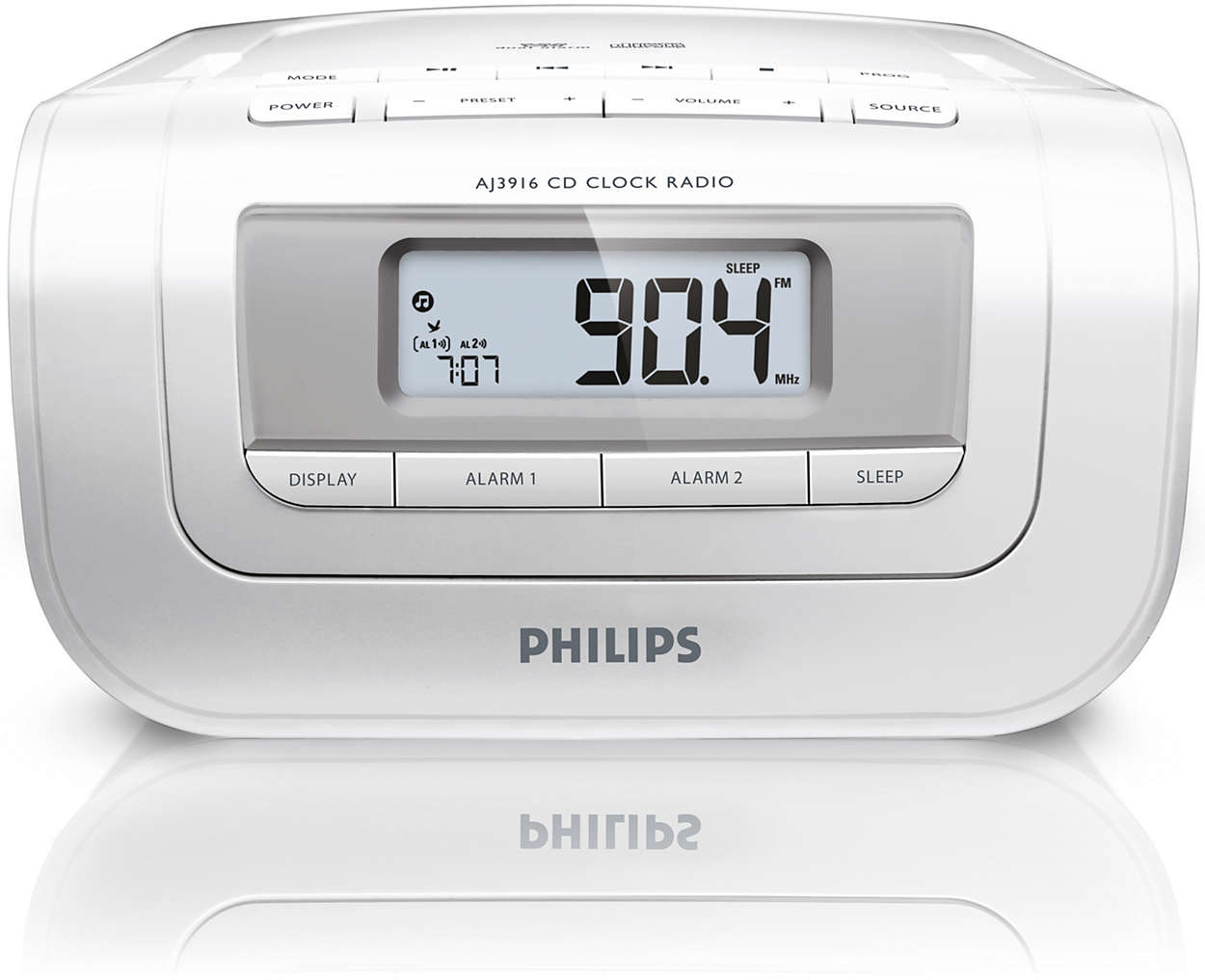 radio r veil avec tuner num rique aj3916 12 philips. Black Bedroom Furniture Sets. Home Design Ideas