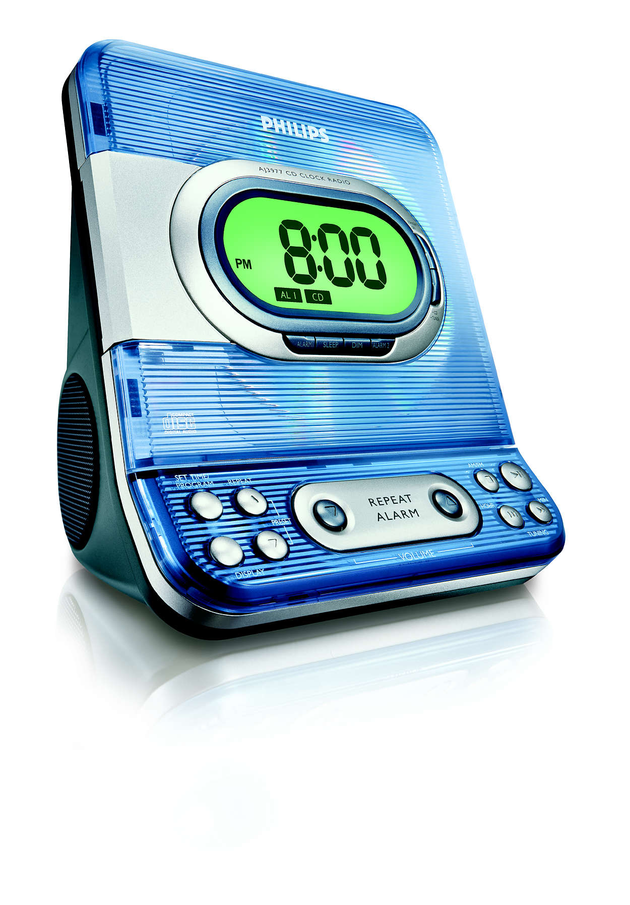Alarm clock with CD playback