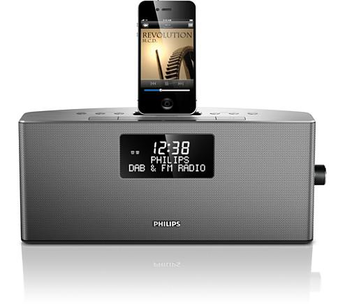 dockingstation f r iphone ipod ajb7038d 10 philips. Black Bedroom Furniture Sets. Home Design Ideas