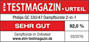 ETM TESTMAGAZIN – Philips GC330/47 – SEHR GUT