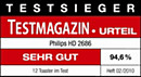 ETM TESTMAGAZIN – Philips HD2686 – SEHR GUT