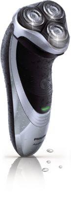 Philips AquaTouch barbeador elétrico seco e molhado AT891 Cabeças flexíveis com lâminas DualPrecision com aparador retrátil e Aquatec seco e molhado