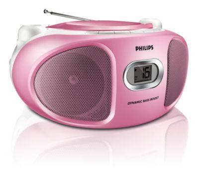 Roze CD-soundmachine