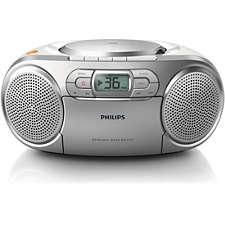 az127 12 philips cd soundmachine mit kassette und radio. Black Bedroom Furniture Sets. Home Design Ideas