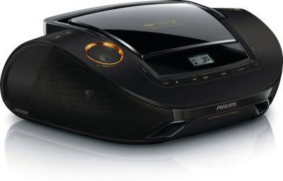 Stijlvolle USB CD-soundmachine, zwart/goud