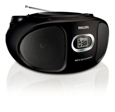 Compacte zwarte CD-soundmachine voor MP3-CD's